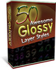 50 Awesome Glossy Layer Styles w/Video Tutorials (MRR)