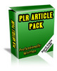 Thumbnail 25 Real Estate Crash PLR Articles