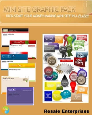 Product picture Mini Site Graphic Pack: 20 Mini-Site Templates (MRR)