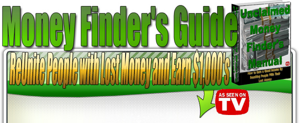 Product picture Unclaimed Money Finders Guide  (MRR)