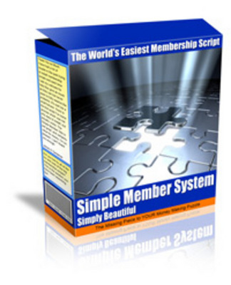 Product picture Simple Member System Script (MRR)