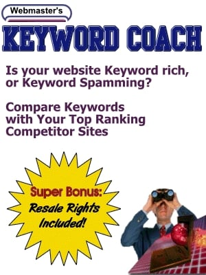 Product picture Keyword Coach: Evaluates the keywords  (MRR)