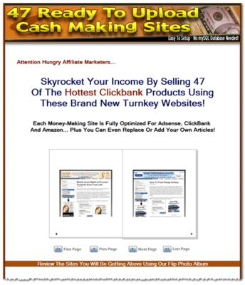 Product picture 47 Ready Made Clickbank Websites - Adsense Optimized (MRR)