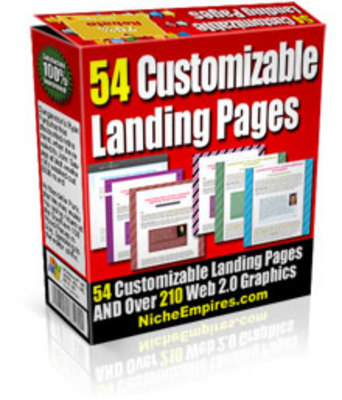 Product picture 54 Customizable Landing Page Templates (MRR)