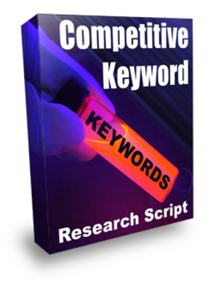 Product picture Competitive Keyword Research Script (MRR)
