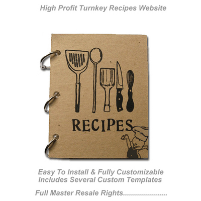 Product picture Turnkey Recipe Sales Website - Cash System (MRR)