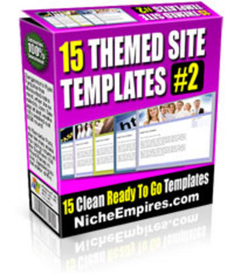 Product picture 15 Themed Site Templates V. 2  (MRR)